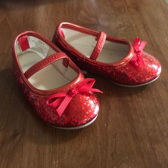 Red Glitter Dorothy Baby Shoes | Poshmark